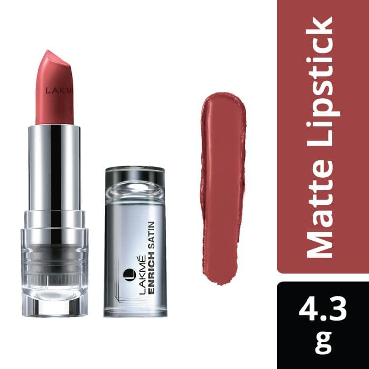 Lakme Enrich Satins Lip Color, Shade P148, 4.3 g