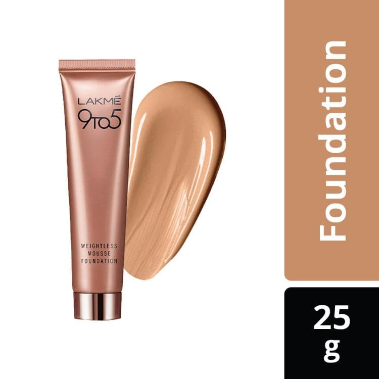 Lakme 9 To 5 Weightless Mousse Foundation, Rose Ivory, 25 G, Lakme Salon