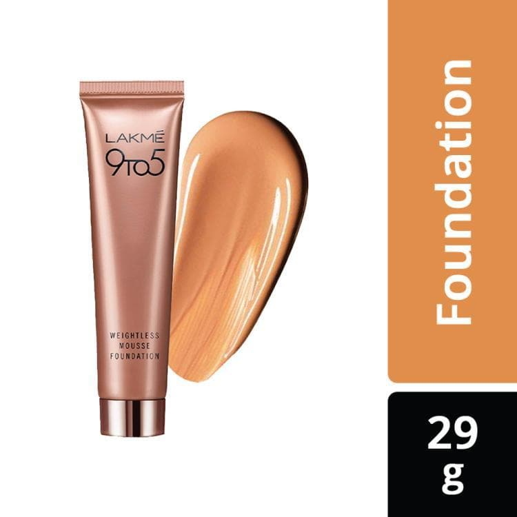 Lakme 9 to 5 Weightless Mousse Foundation, Beige Caramel, 25 g