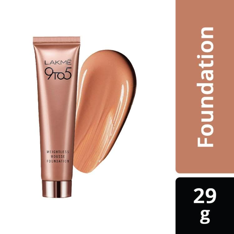 Lakme 9 To 5 Weightless Mousse Foundation, Rose Honey, 25 G - Lakme Salon