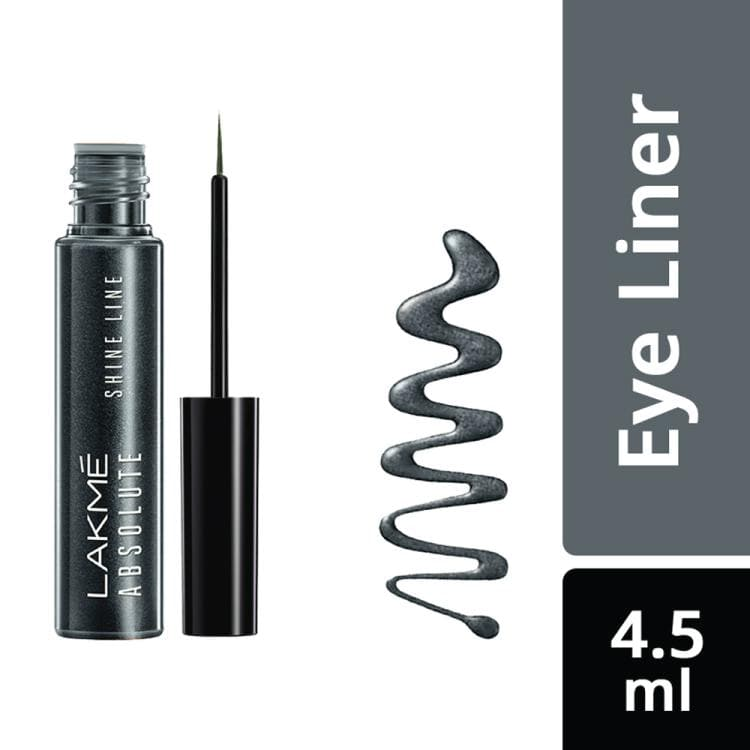 Lakme Eyeliners - Lakme Absolute Shine Line Eye Liner, Grey, 4.5 ml