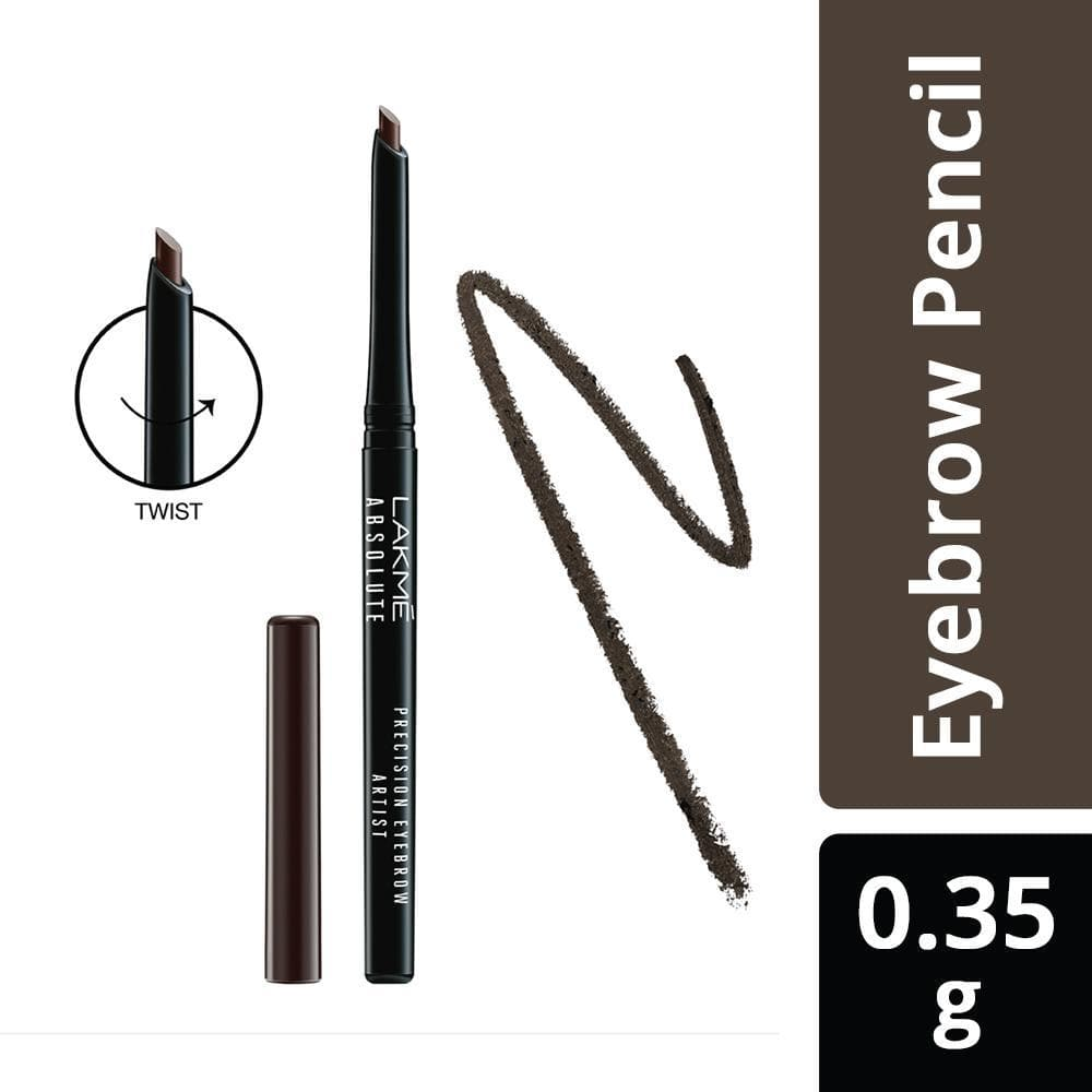 Lakme Absolute Precision Eye Artist Eyebrow Pencil, Dark Brown, 0.35g, Lakme Salon