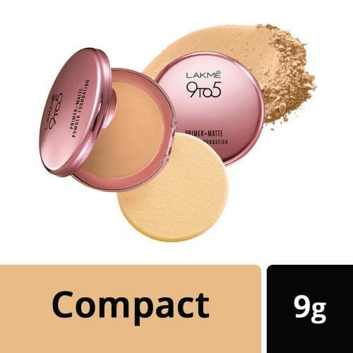 Lakme 9 to 5 Primer+Matte Powder Foundation Silky Golden,  Lakme Salon