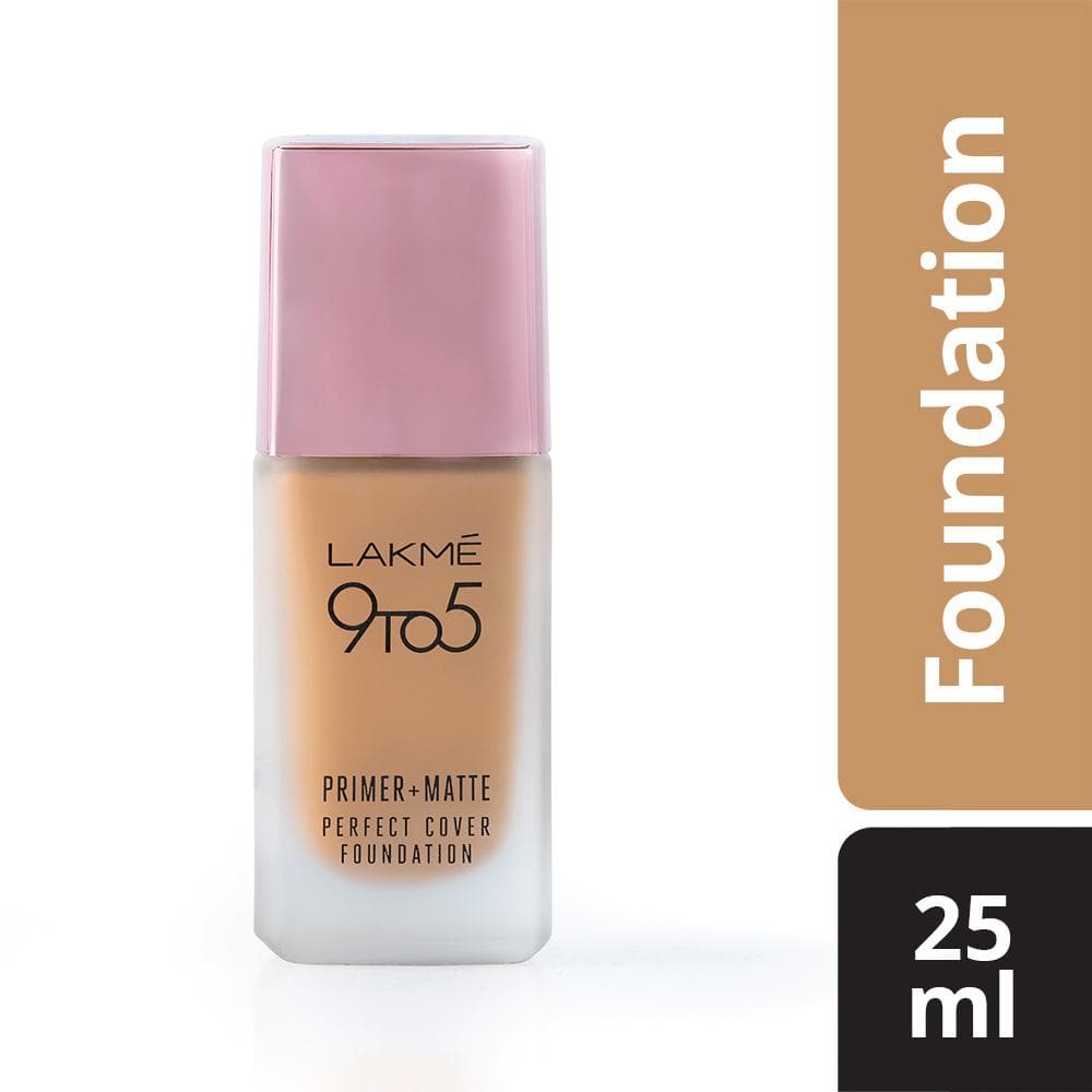 Lakme 9To5 Primer + Matte Perfect Cover Foundation, W320 Warm Caramel, 25 ml