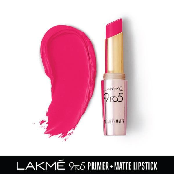 Lakme 9 to 5 Primer + Matte Lip Color, MP16 Pink Perft, 3.6 g