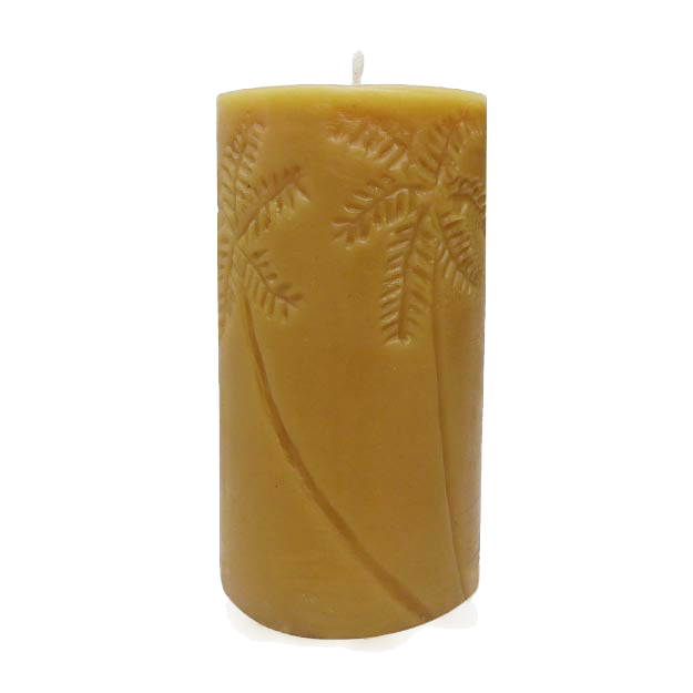 palm tree hawaiian tropical beeswax candle