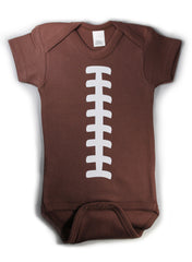 Football Awesome Funny Baby Bodysuit Creeper Brown w/ White