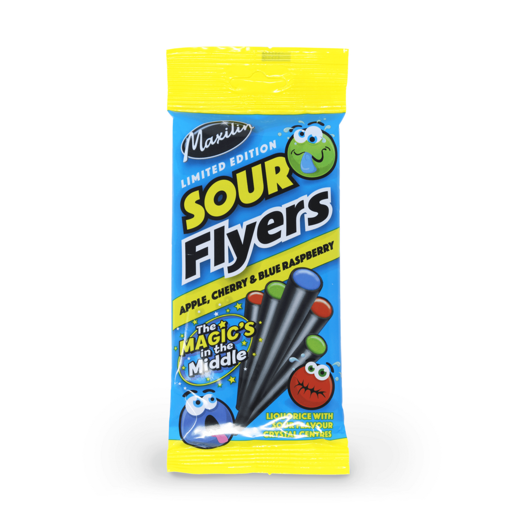 Sour Liquorice Flyers 75g - Old Town Sweet Shop