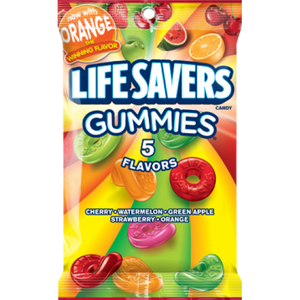 Lifesavers Gummies 5 Flavours Peg Bag 7oz (198g) - Old Town Sweet Shop