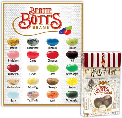 Harry Potter Bertie Botts Every Flavour Beans Box - Old Town Sweet Shop