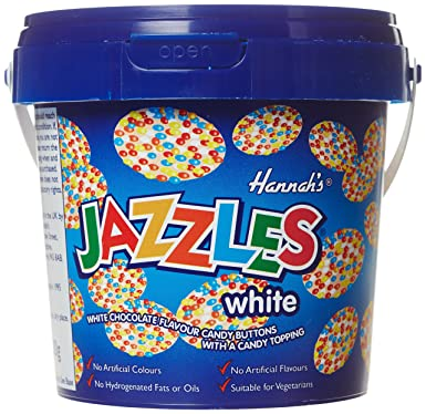 Hannahs Bucket White Jazzles, 300 g - Old Town Sweet Shop