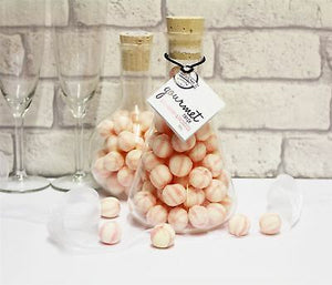 Hard Boiled Sweets Flask Strawberry & Prosecco Gourment  350g - Old Town Sweet Shop
