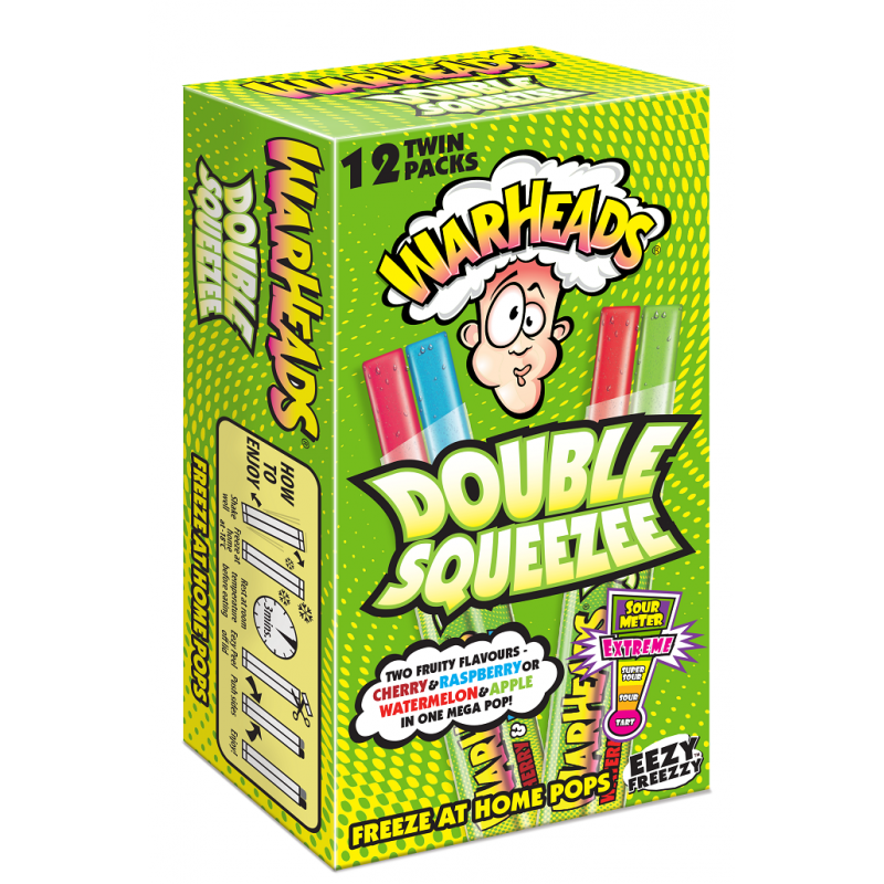 Warheads Double Squeezee Freeze Pops 12pk - Old Town Sweet Shop
