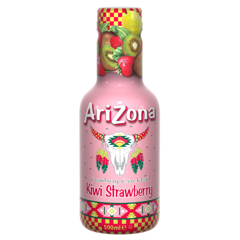 AriZona Cowboy Cocktail Kiwi Strawberry - 500ml - Old Town Sweet Shop