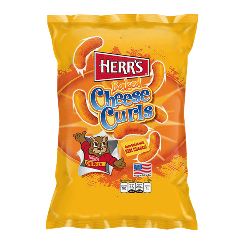 Herr's Baked Cheese Curls - 1oz (28.4g) - Old Town Sweet Shop