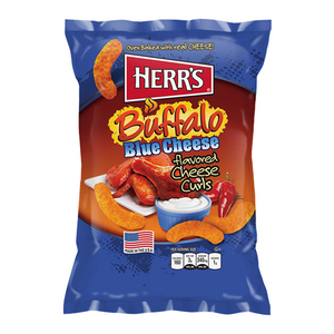 Herr's Cheese Curls - Buffalo Blue Cheese Flavour Puffs - 7oz (199g - Old Town Sweet Shop