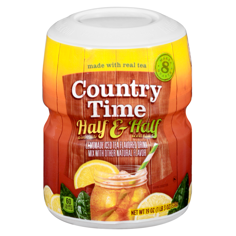 Country Time Half and Half Lemonade Tea Drink Mix 19oz (538g) - Old Town Sweet Shop