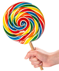 Extra Large Whirly Pop Rock Lollipop 17cm - Old Town Sweet Shop