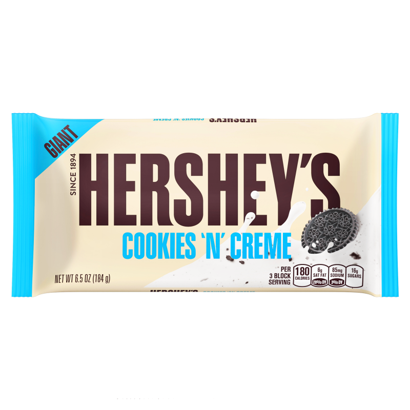 Hershey's GIANT Cookies and Creme Chocolate Bar 6.5oz (184g) - Old Town Sweet Shop