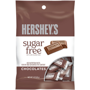 Hershey's Sugar Free Mini Chocolate Bar Peg Bag - 3oz (85g) - Old Town Sweet Shop