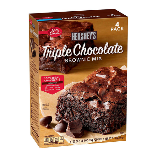 Hershey's Triple Chocolate Brownie Mix - 20oz (567g) - 4pk - Old Town Sweet Shop