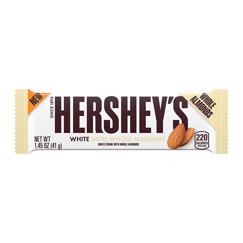 Hershey's White Crème w/ Whole Almonds Bar - 1.45oz (41g) - Old Town Sweet Shop