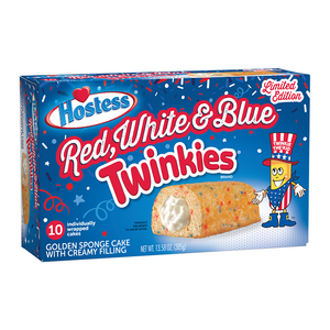 Hostess Red White & Blue Twinkies 10-Pack 13.58oz (385g) - Old Town Sweet Shop