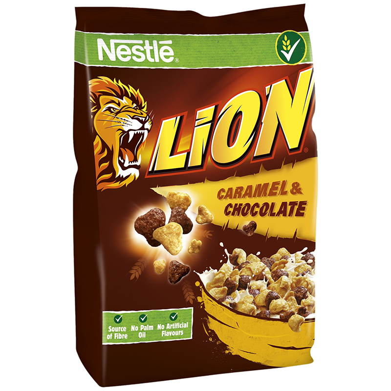 Nestle Lion Caramel & Chocolate Cereal - 250g - Old Town Sweet Shop