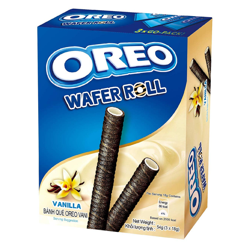 Oreo Vanilla Wafer Rolls (54g) - Old Town Sweet Shop