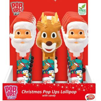 Christmas Pop Up Lollipop 10g - Old Town Sweet Shop