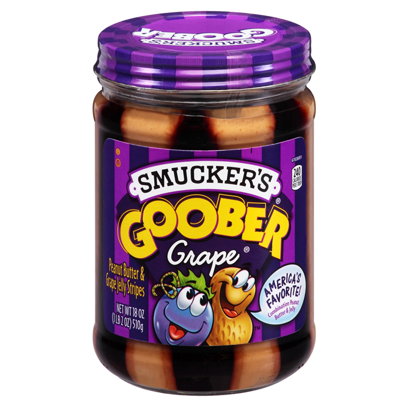 Smuckers Goober Grape Peanut Butter Jelly Stripes 18oz (510g) - Old Town Sweet Shop
