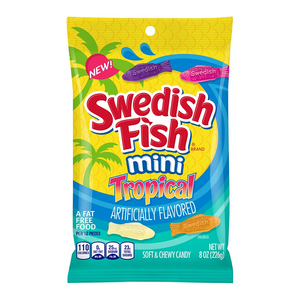 Swedish Fish Tropical Peg Bag - 8oz (226g) - Old Town Sweet Shop