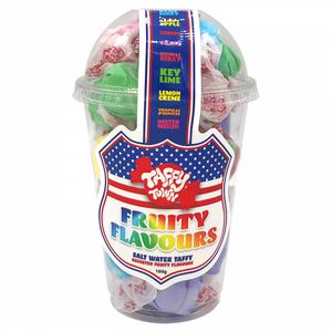Taffy Town Salt Water Taffy Cups (182g) - Fruity Flavours - Old Town Sweet Shop