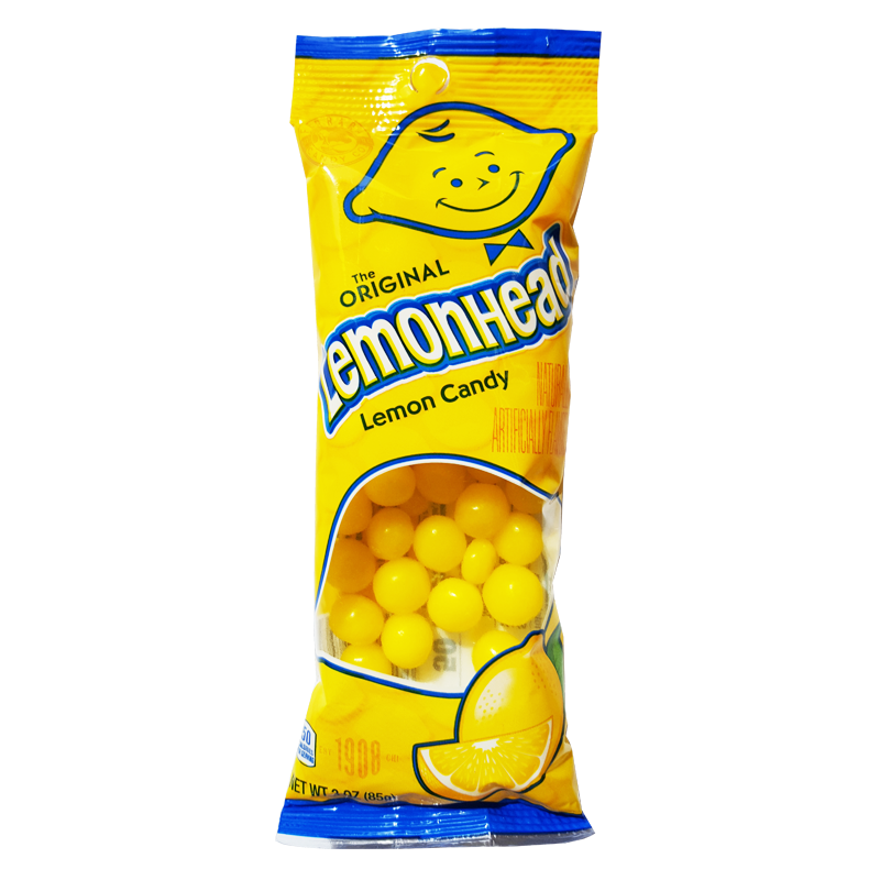 Lemonheads Flex Peg Bag - 3oz (85g) - Old Town Sweet Shop