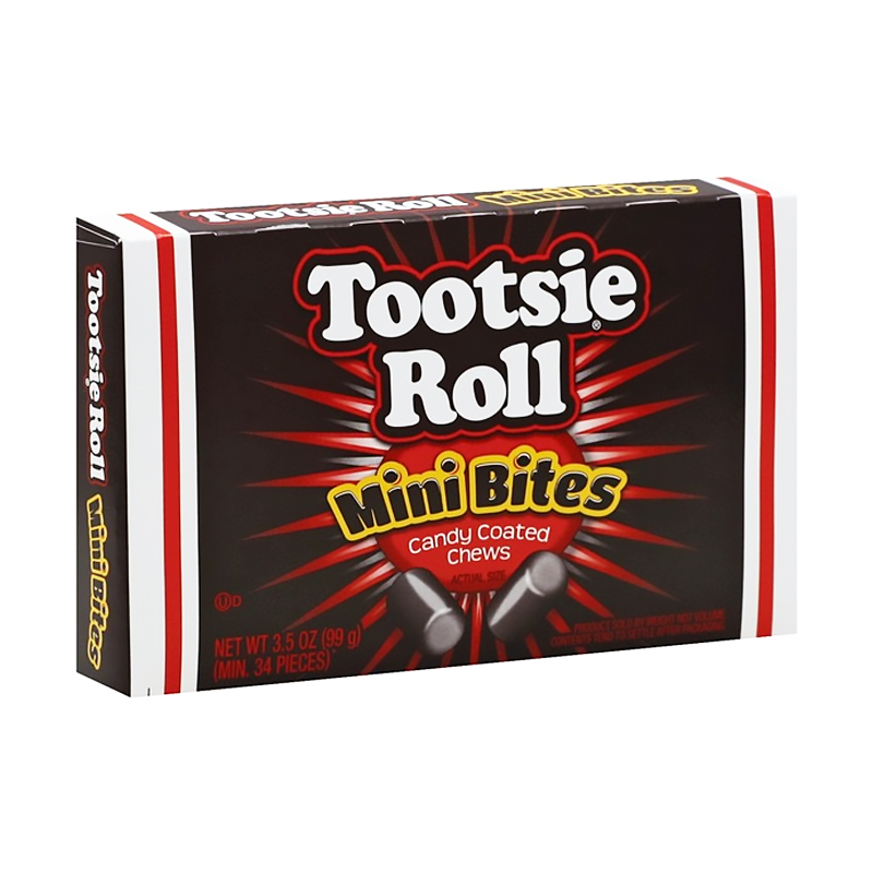 Tootsie Roll Mini Bites Theatre Box - 3.5oz (99g) - Old Town Sweet Shop