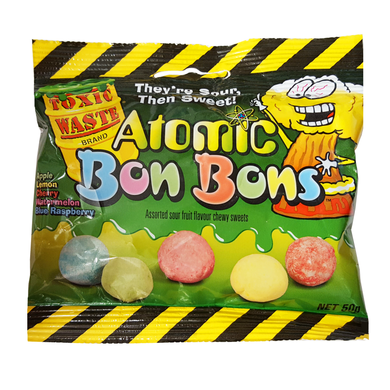 Toxic Waste Atomic Bon Bons Sour Candy - 150g - Old Town Sweet Shop
