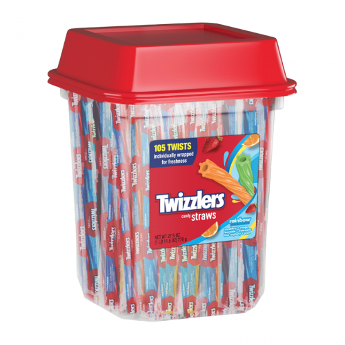 Twizzler Rainbow Twists Tub 105pc 25.7oz - Old Town Sweet Shop