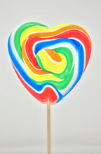 Load image into Gallery viewer, Large Heart Rock Lollipop - Old Town Sweet Shop
