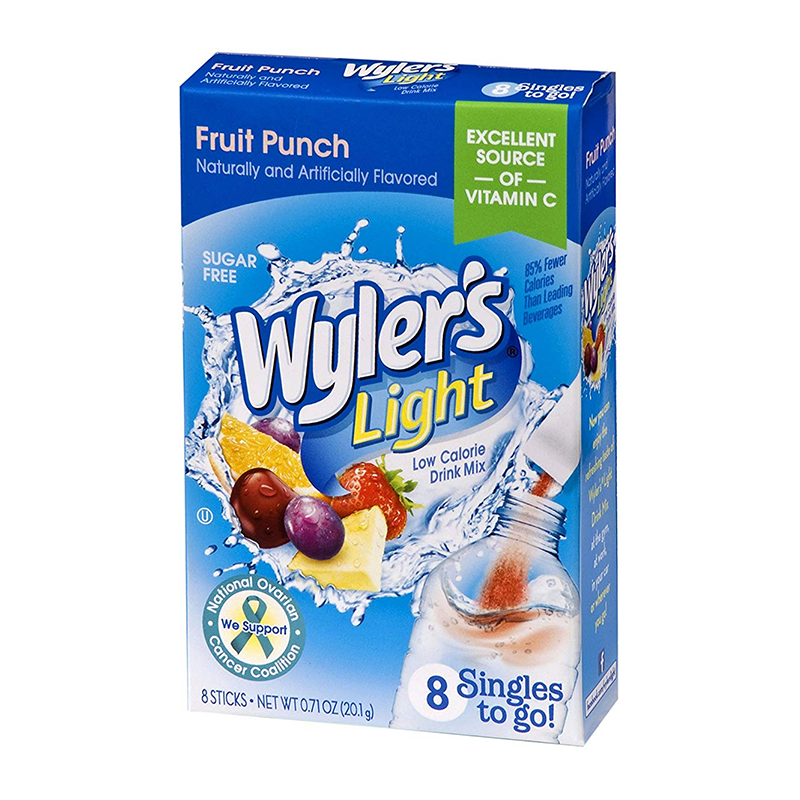 Wyler's Light Singles To Go Fruit Punch 8-Pack - 0.71oz (20.1g) - Old Town Sweet Shop