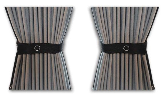 Curtain Set - 140cm Straight Rails & 52cm Curtain Height (Blackout)