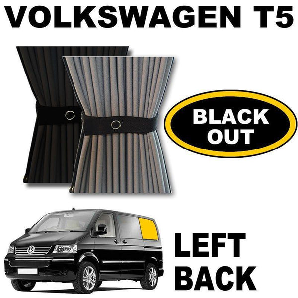 VW T5/T6 Curtain Kit  - Left Back SWB (Blackout)