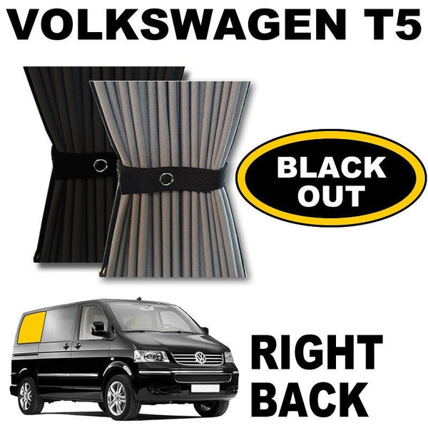 VW T5/T6 Curtain Kit  - Right Back SWB (Blackout)