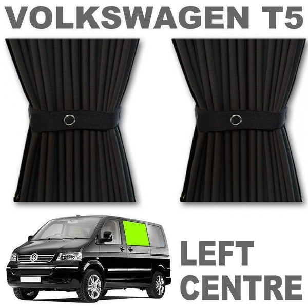VW T5/T6 Curtain Kit - Left Centre Sliding Door (Black)