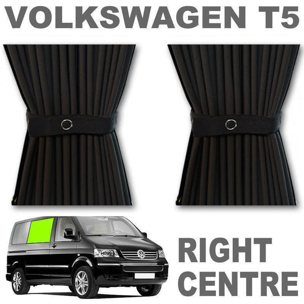 VW T5/T6 Curtain Kit - Right Centre Sliding Door (Black)