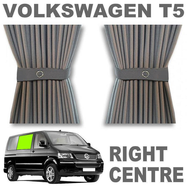 VW T5/T6 Curtain Kit - Right Centre Sliding Door (Grey)
