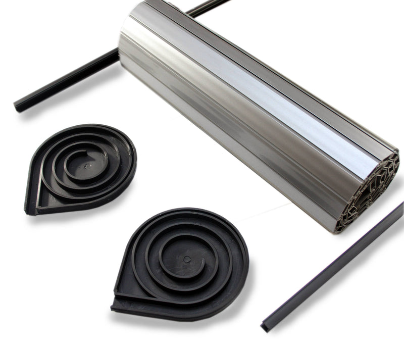 Tambourline Tambour Door Kits - Choice of Size & Colour Tambourline Silver 343mm wide x 650mm drop