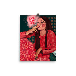 Bollywood Smoker in Red - Print