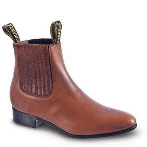 BA-106 - Bonanza Oil Tanned Leather Charro Boots