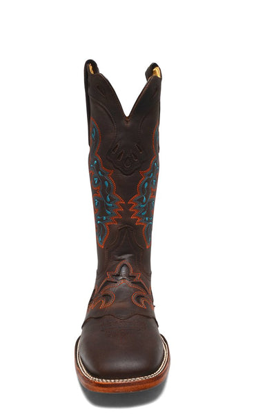 Women's Brown Cowgirl Western Rodeo Leather Boots REDHAWK 5200