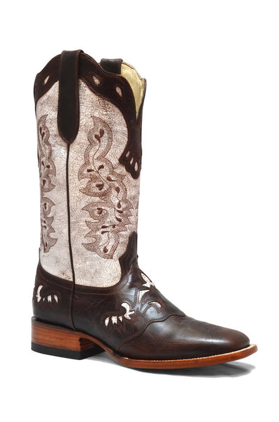 Women's White Cowgirl Western Rodeo Leather Boot REDHAWK 5211